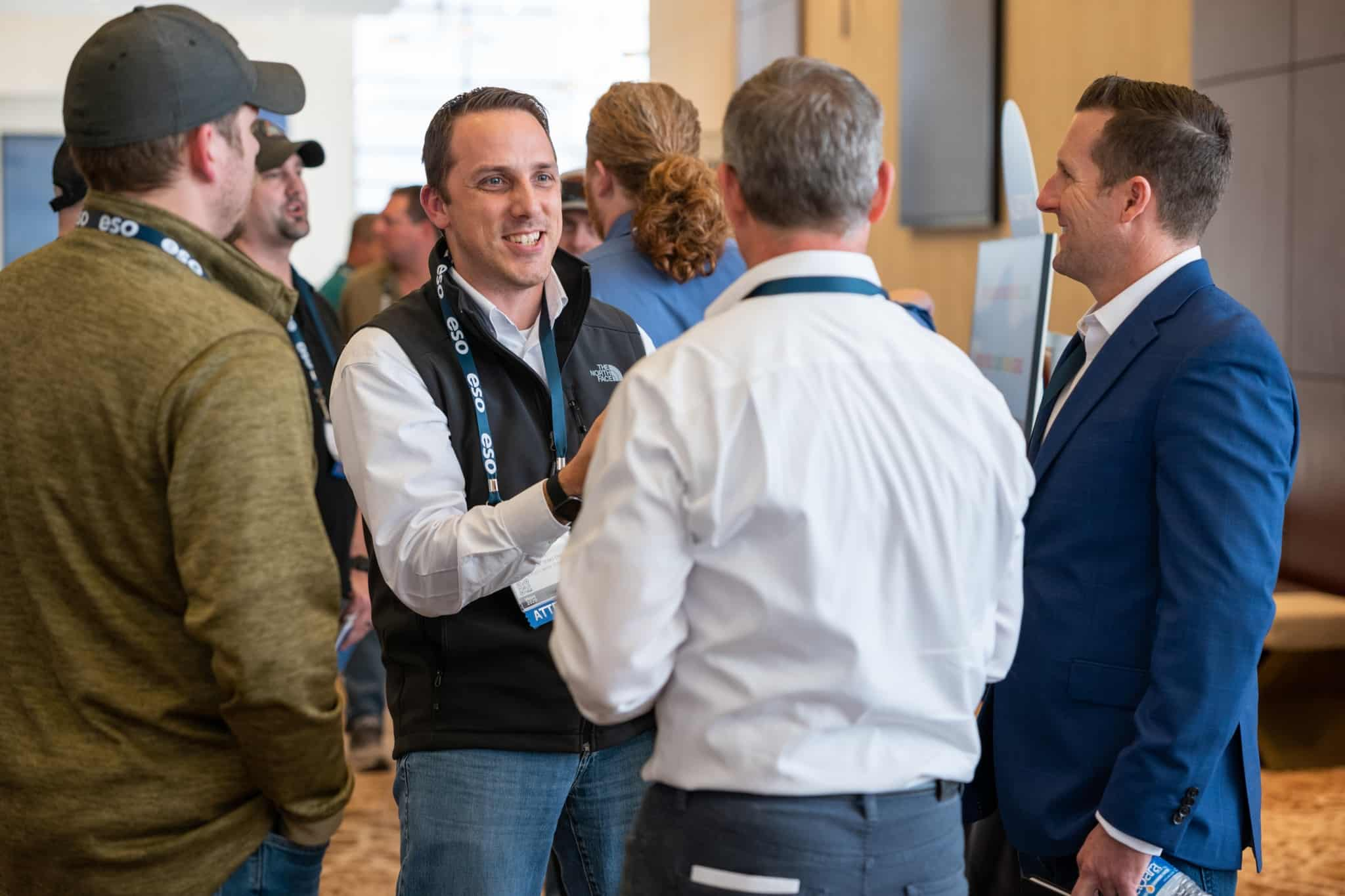Image of men meeting at ESO Wave conference.